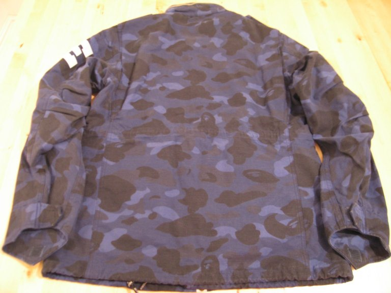 eBay - Bathing Ape M65 Camo Blue Jacket Authentic Large BAPE
